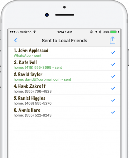 Send Mass Text on iPhone