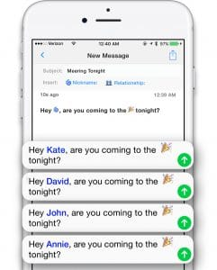 Personalize your texts